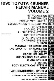 toyota 4runner repair 1990 toyota 4runner repair shop manual set original