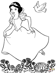 snow white dwarfs coloring pages free coloring pages