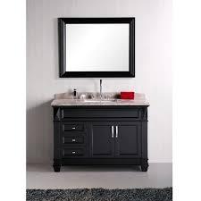 home hudson 48 inch single sink marble top bathroom vanity set 48