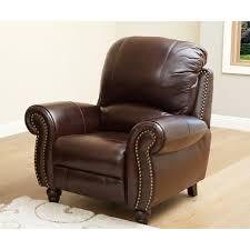 Online Furniture Abbyson Madison Premium Grade Leather Pushback Reclining Armchair