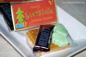 christmas crafts s u0027more treat bag with free printable