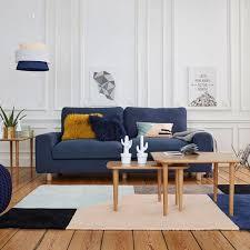 canapé bleu marine déco salon le bleu marine couleur majeure de votre intérieur