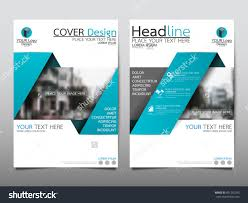 blue annual report brochure flyer design template vector leaflet