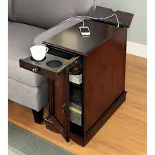 chairside table with charging station furniture of america terra multi storage side table with power strip
