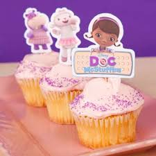 doc mcstuffins cupcake toppers disney family