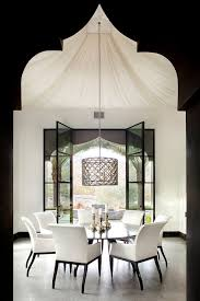 White Modern Dining Chairs Furniture Beautiful Moroccan Dining Room With Sining