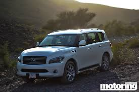 infinity car blue 2013 infiniti qx56 review motoring middle east car news