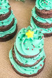 Christmas Tree Frosting Christmas Tree Brownies Domestically Speaking