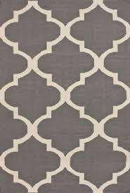 Modern Flat Weave Rugs Woven Moroccan Trellis Geometric Flatweave Wool Rug 2