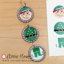 easy to make bottle cap ornaments free tutorial