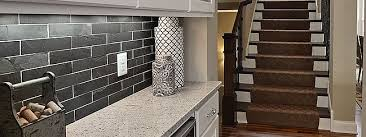 Tumbled Slate Backsplash by Black Slate Subway Backsplash Tile Idea Backsplash Com