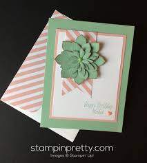 oh so succulent birthday card stampin u0027 pretty