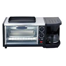 Toaster Machine Spt Stainless Steel 3 In 1 Breakfast Center Bm 1118 The Home Depot