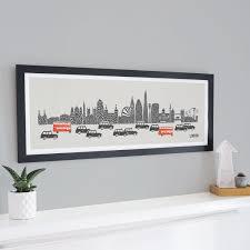 panoramic london skyline print home decor travel wall art