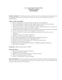 Cover Letter For A Receptionist Job by Clinical Service Manager Cover Letter Medical Office Receptionist