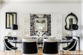 Glossy Black Dining Table Design Ideas - White and black dining table