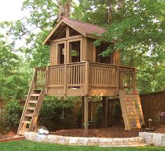 Wood House Design by Fabulous Outdoor Tree House Design Which Is Completed With Wooden