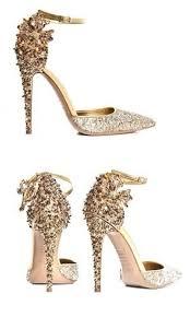 Wedding Shoes Online Online Shop Pointed Toe Bling Gold Wedding Shoes Leopard Pattern