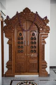 Modern Pooja Room Design Ideas Carved Wooden Door Buy Wood Craft Door Product On Alibaba Com