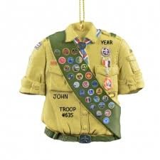 boy scout shirt with sash ornament personalized ornaments for you