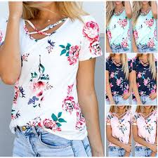 printed blouse uk womens floral printed blouse summer sleeve casual