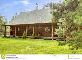 cabin porch rustic log cabin front porch exterior royalty free stock photos