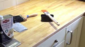 sanding and oiling a kitchen worktop youtube