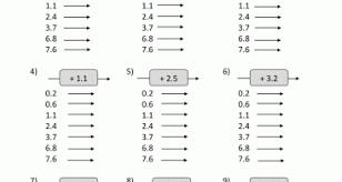 5th grade decimal mental subtraction sheets kelpies