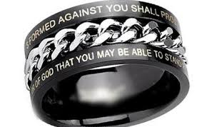 bible verse rings black chain bible verse ring the biker nation