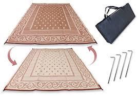 rv patio mat 9x12 u0027 reversible outdoor rug camping rv mat indoor 6