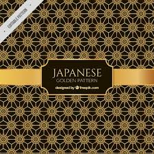 japanese background with ornaments vector free