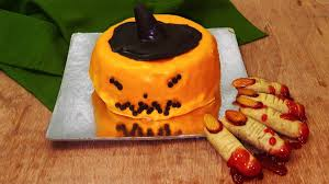 Making Halloween Cakes by Pumpkin Cake Recipe U2013 Halloween Special U2013 Eggless Baking Without