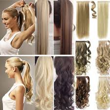 real hair extensions us 100 real new clip in hair extension pony wrap around