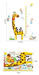 good price reusable cartoon giraffe pvc height removable good price reusable cartoon giraffe pvc height removable waterproof growth chart kids room wall decor stickers