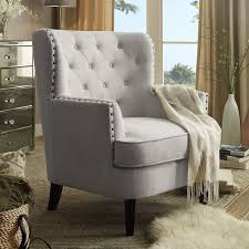 upholstered chairs living room chrisanna tufted upholstered club chair products pinterest