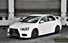 mitsubishi evolution 1 evo savini wheels