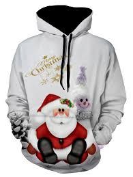 Snowman Print Christmas Pullover Hoodie Gray Xl In Hoodies