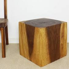 Wooden Cube 18 Walnut Oil End Table Thailand Free Shipping Today
