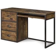 student desk with hutch and drawers braxton wood in distressed natural by magnussen small computer white