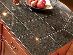 Kitchen Counter Tile - kitchen the pros and cons of granite tile diy black kitchen