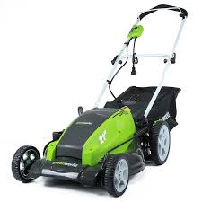 amazon com greenworks 25112 13 amp 21 inch corded lawn mower