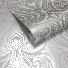 Gray Wallpaper Bedroom - best 25 grey damask wallpaper ideas on pinterest grey wallpaper