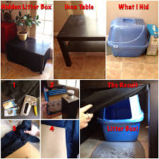 litter box side table how to hide your tall litter box with a few bucks and an old ikea