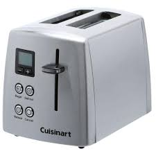 Two Slice Toaster Reviews Cuisinart 2 Slice Compact Toaster In Silver Cpt 415 The Home Depot