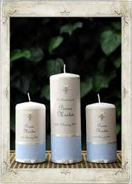 christening candles christening blue set of 3 candles personalised candles