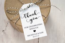 labels for wedding favors thank you for celebrating with us wedding favor tags custom