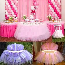 tutu baby shower decorations tutu tulle table skirts baby shower decoration for high chair home
