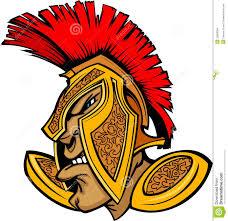 roman centurion mascot head with helmet cartoon stock images