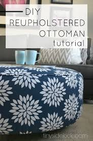 Reupholster Leather Ottoman How To Reupholster An Ottoman