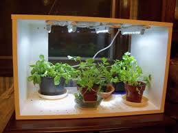 indoor herb garden with light gardening ideas